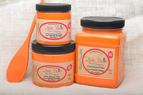 FLORIDA ORANGE 16oz Only!-Dixie Belle Chalk Mineral Paint-for Furniture/Cabinets