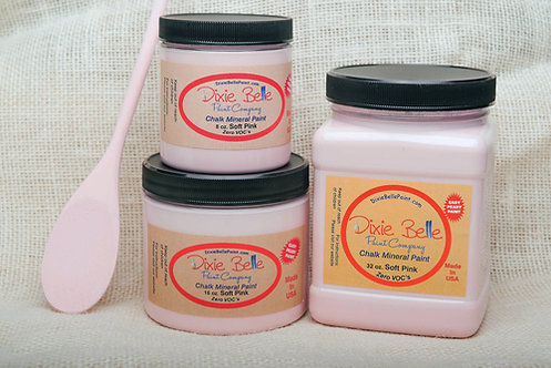 SOFT PINK-Dixie Belle Chalk Mineral Paint-for Furniture/Cabinets/Any Surface