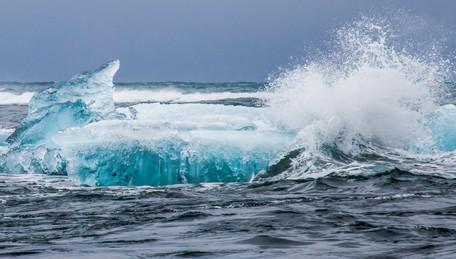 Iceberg in Atlantic ocean, Iceland