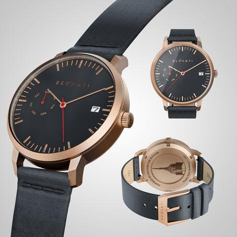 Secanti wristwatch | Rose Gold & Black
