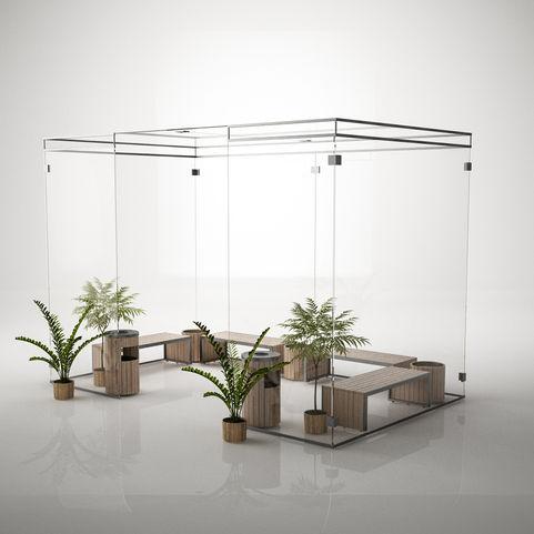 Smoking Area Concept render