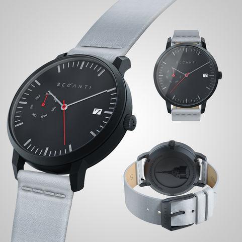 Secanti wristwatch   Black & White