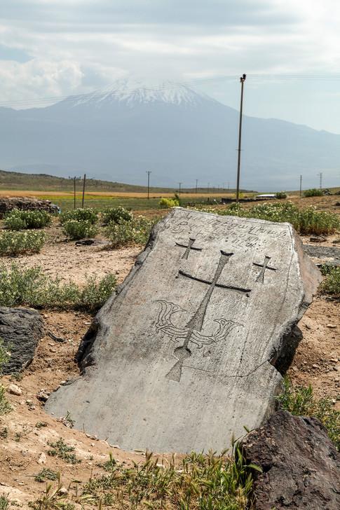 Armenian khachqar, Igdir, Turkey