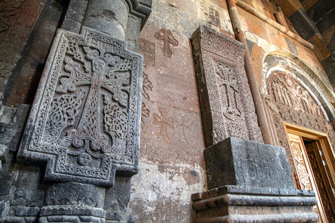 Khachqars (cross-stones), Hovhanavanq, Armenia