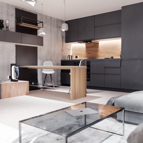 Interior render of a flat apartment #4