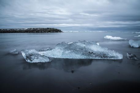 Iceberg in Jokulsarlon glacier lagoon, Iceland
