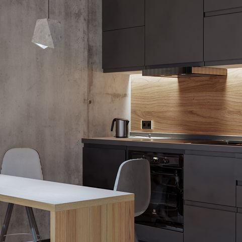Interior render of a flat apartment #3