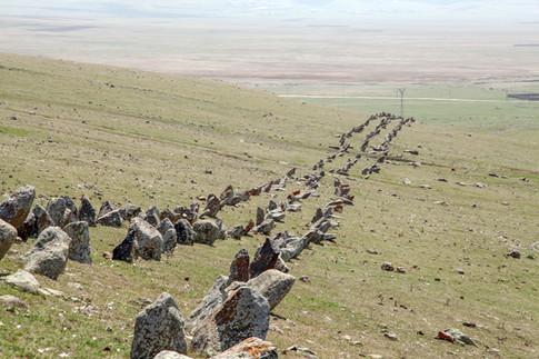 Menhirs in Northern Armenia