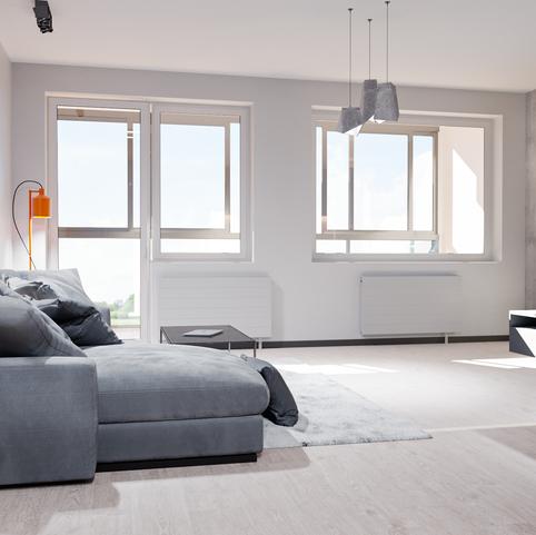 Interior render of a flat apartment #2