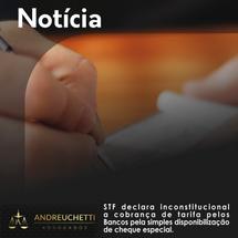 STF declara inconstitucional a cobrança de tarifa pelos Bancos