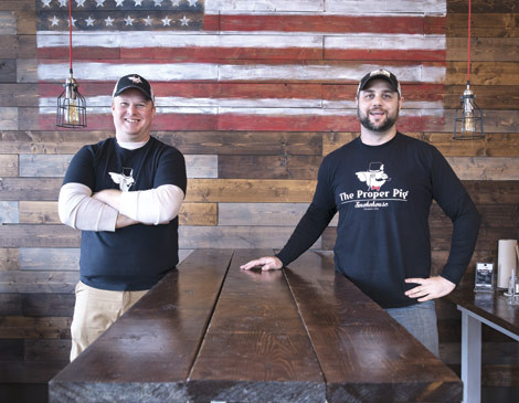 Pictured:Shane Vidovic (left) and partner, Ted Dupaski (right) at one of theirnewly founded restaurants in Mentor.
