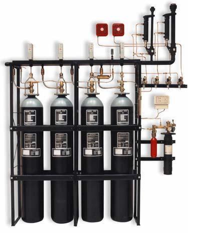 Модуль газового пожаротушения LPG с контролем веса (СО2)