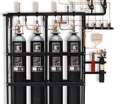 Выбор устройств газового пожаротушения
