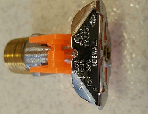 """Ороситель спринкл./дренчер TY3331,колба 3мм,1/2""""NPT,К=80,горизонтальный, водяной"""