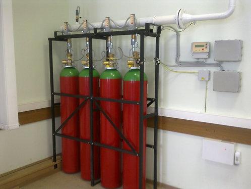 Батарея газового пожаротушения ИСТА (Хладон 125, 227еа, 318ц, ФК-5-1-12)
