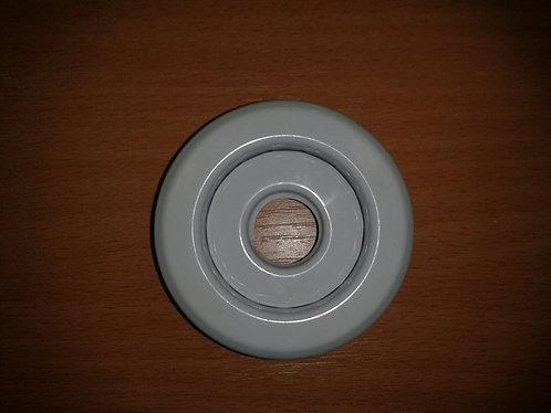 Цоколь фасонный (углубленный) белый/хром