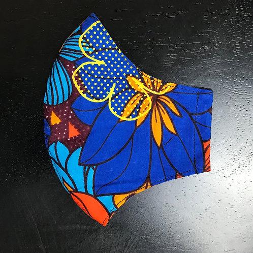 Blue Floral Face Shield