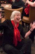 Annie's happy in the choir