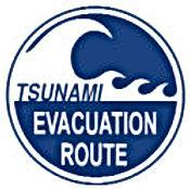Tsunami Evac sign