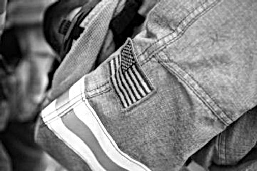 Flag patch on Turnout gear