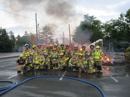 Group photo at burn to learn