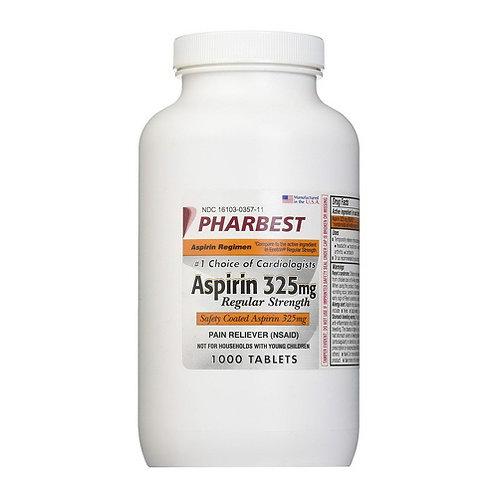 Aspirin 325 mg 1000 Tablets