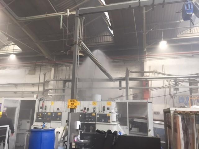 01 Clay Cross packaging sprinkler activation Jun 17 DFRS