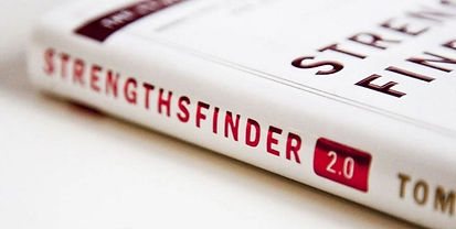 copy of the book StrengthsFinder 2.0 used by Strengths Savv