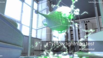Toy Space Ship Lightning VFX test (wireframe)