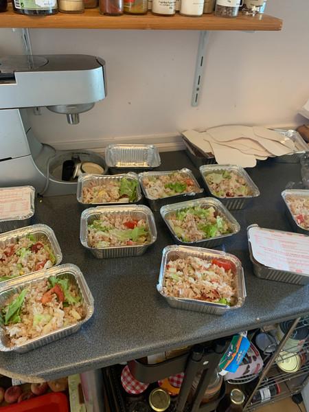 quelques salades de riz