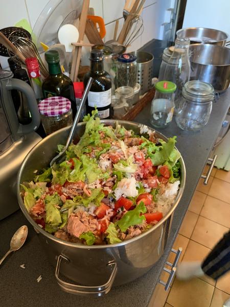 salade de riz pour environ 20 portions
