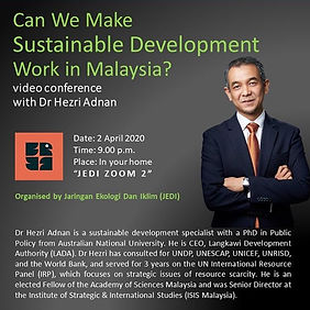 Can We Make Sustainable Development Work in Malaysia?