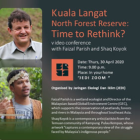 Kuala Langat North Forest Reserve: Time to Rethink?