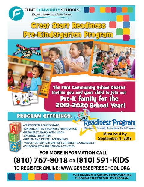 Great Start Readiness - Orig Flyer Front