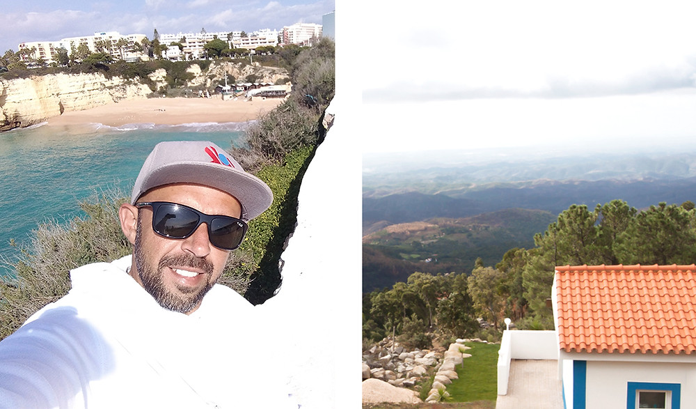 A local guide at the beach in the Algarve and a picture from a mountain top