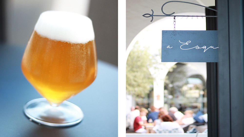 Craft beer and al fresco dining at Dos Santos in their taproom a Esquina in Algarve