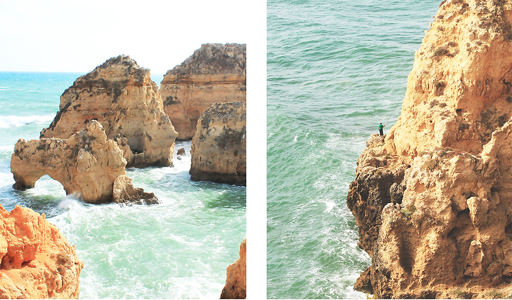 Impressive limestone rocks and caves with great views and hike in Lagos, Algarve