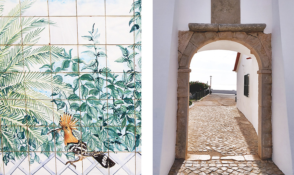 Carvoeiro old town, a collection of shops, restaurants, and bars surrounding and overlooking the beautiful bay.