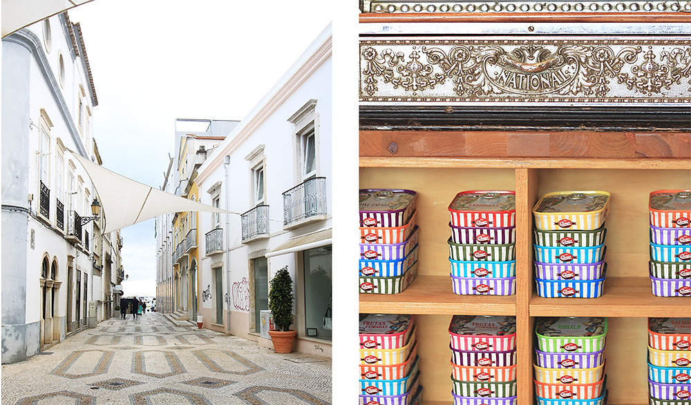 Downtown Faro with popular shops and cafes
