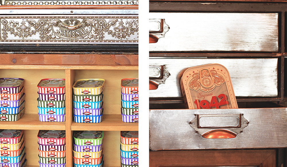 Comur Conserveira de Portugal is the coolest shop to buy traditional canned fish. Here you'll find local flavors wrapped in pretty little boxes, Algarve