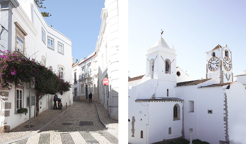 Old town Tavira with narrow streets and churches