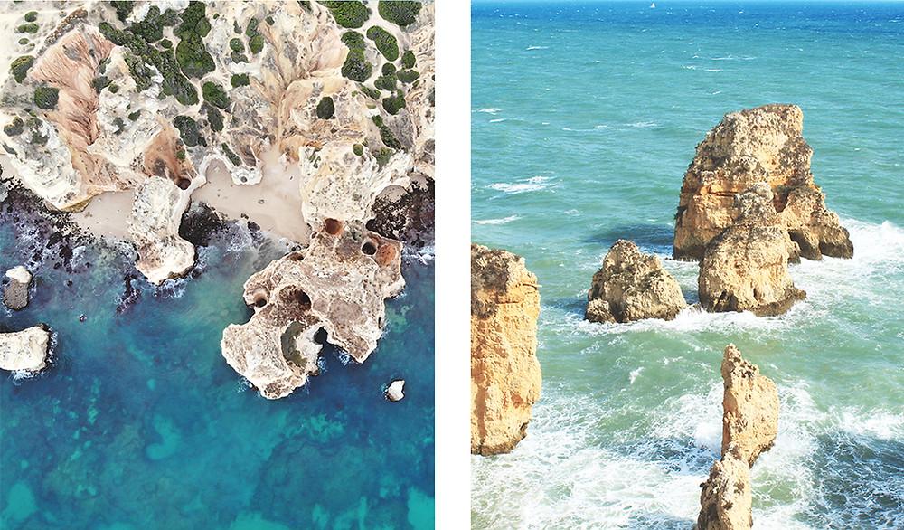 Stunning rocks and water at Praia Do Camilo, Lagos