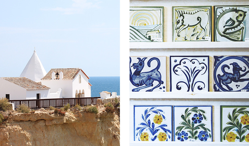 The town of Porches, Algarve with handmade pottery and picturesque chapels