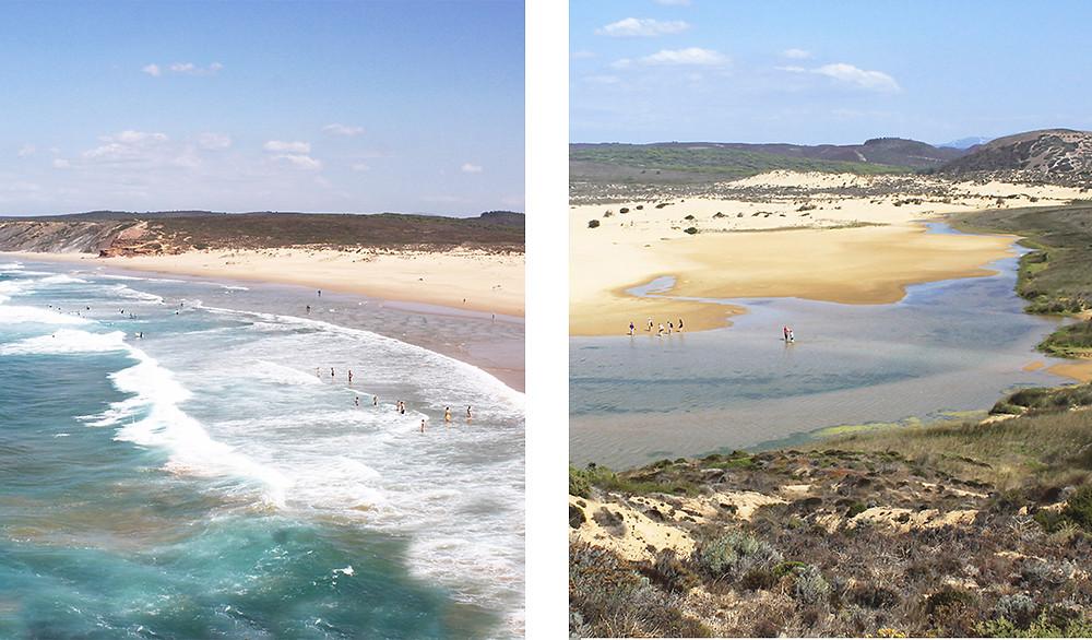 Best wild beach in Algarve - Praia de Bordeira, Bordeira