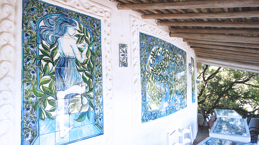 Handcrafted art and tiles at Porches Pottery, Algarve