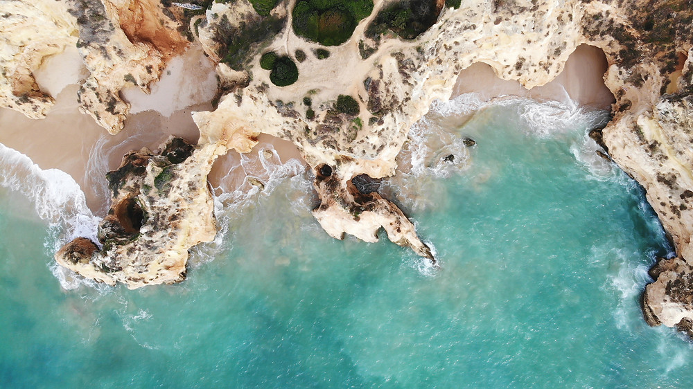 White cliffs, sand beaches and turquoise water - best beaches in Algarve
