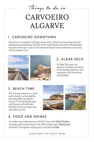 THINGS TO DO - CARVOEIRO