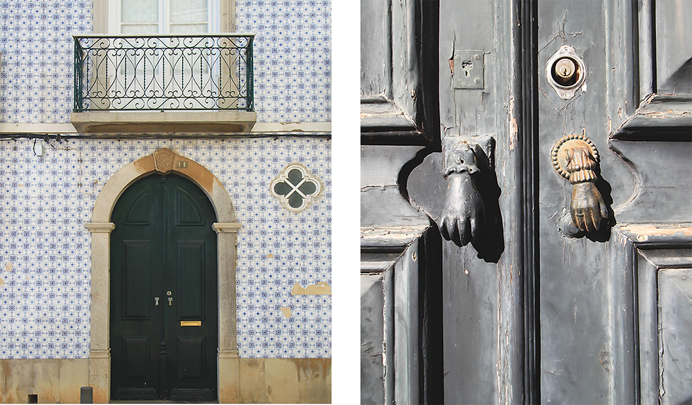 Tiled house and moorish details in Tavira, Algarve