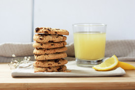 A stack of cookies showing food photography