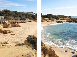 Coastal cliff hike from Albufeira with crazy views